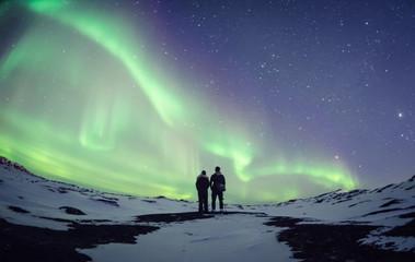 Zelfklevend Fotobehang Noorderlicht Aurora Borealis