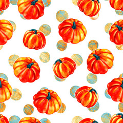 Pattern from autumn leaves painted with watercolors on white background. Coloured bright leaves hand-painted, paint, texture, watercolor.