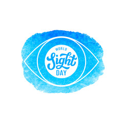 World sight day. Vector lettering