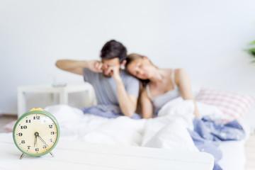 Couple is overslept