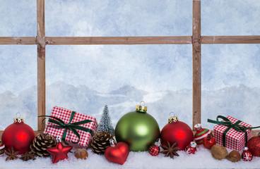 Weihnachten Karte Fenster