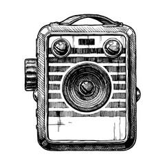 Wall Mural - illustration of box camera
