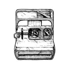 Wall Mural - illustration of instant camera