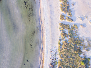 Baltic Sea Seaside Aerial drone top view