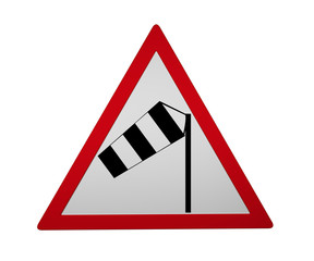 Traffic sign: side wind