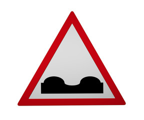 Traffic sign: Uneven roadway