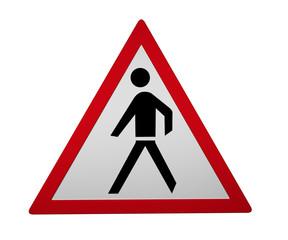 Verkehrszeichen: Fußgänger