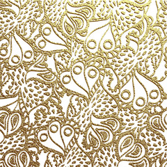 Vector gold floral ornaments background.