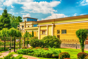 Kiev, Kiyv, Ukraine: the Mezhyhirva Residence situated on the banks of the Dnieper river  of former pro-russian Prime Minister and President Viktor Yanukovych, now a museum