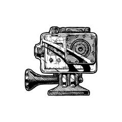 Wall Mural - illustration of action camera