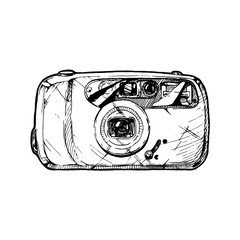 illustration of point-and-shoot camera