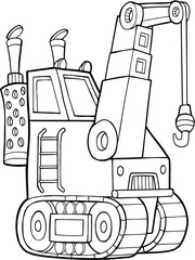 Crane Construction Vector Illustration Art