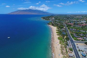 Aerial View - Kamaole Beach Park 1 - Island of Maui, Hawaii