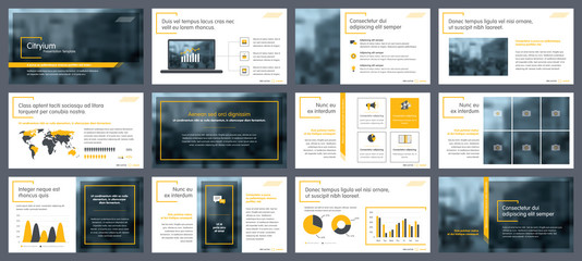 Elements of infographics for presentations templates. Annual report, leaflet, book cover design. Brochure layout, flyer template design. Corporate report, advertising template in vector Illustration.  Wall mural