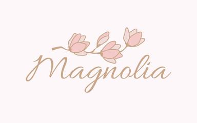 Magnolia logo vector