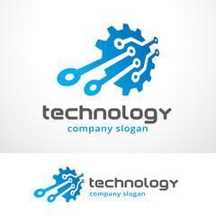 Technology Logo Template Design Vector, Emblem, Design Concept, Creative Symbol, Icon