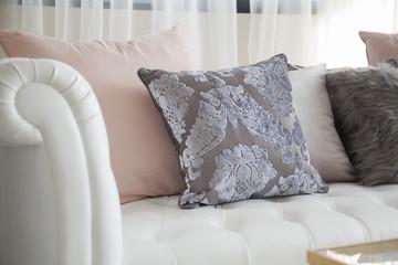luxury cushion on sofa