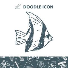 Tropical fish doodle