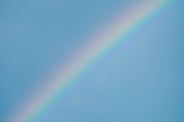 Rainbow with blue sky