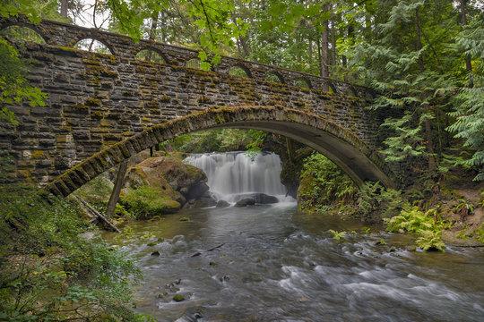 Stone Bridge at Whatcom Falls Park Washington State USA America