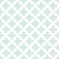 Wallpaper baroque, damask. White and blue floral pattern. Vintage ornament. background for wallpaper, printing on the packaging paper, textiles, tile.