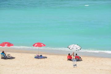 Overlooking the Beach on the Mediterranean Sea in Israel
