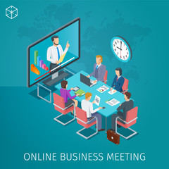 Business conference online banner