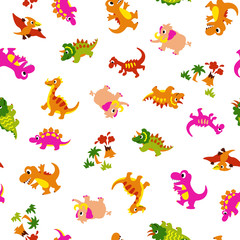 可愛い恐竜のパターン