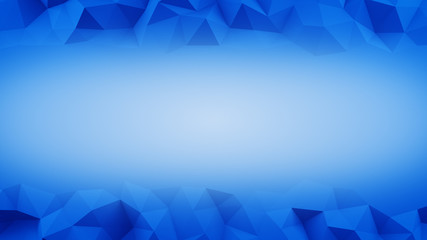 Blue frame of low poly 3D surface