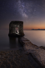 Mysterious Abandoned Tower (Antibes, Juan les Pins, Plage des Ondes)