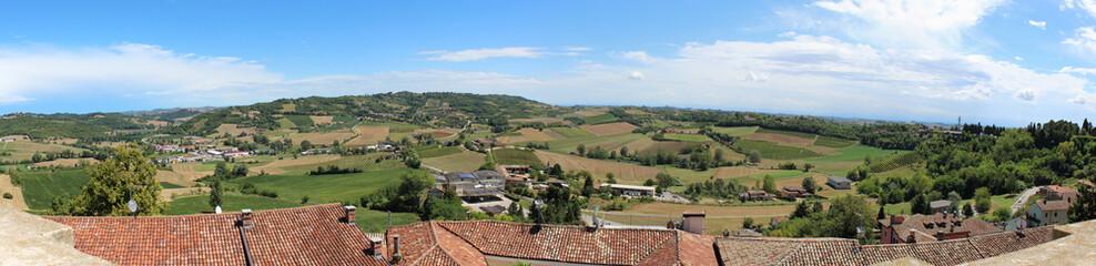 Poster Hill hills of the monferrato