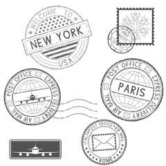 Postmarks and tourist stamps