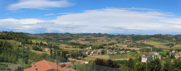 Foto op Plexiglas Heuvel hills of the monferrato