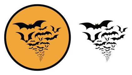 BATS SWARM HALLOWEEN ICON