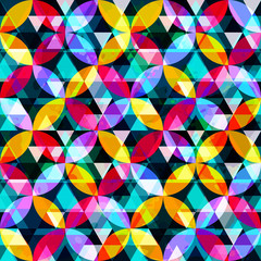 bright abstract geometric colored seamless background