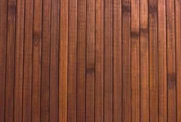 Wooden brown background. Smooth and polished wood