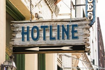 Schild 279 - Hotline