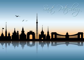 Saint Petersburg skyline
