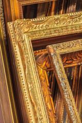 Assortment of antique picture frames