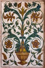 floor tiles surface ornament flower pattern