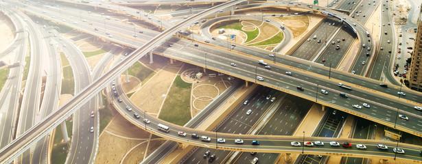 city traffic of highway and bridge