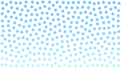 blue stars. blue snowflakes. aqua white background pattern abstract. turquoise stipple effect. vector illustration