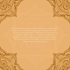 template with mandala design