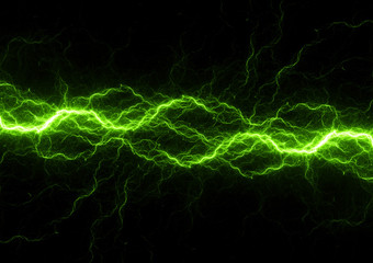 Green power, abstract lightning Wall mural