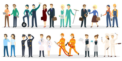 Professional occupation set. Wall mural