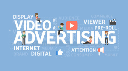 Video advertising concept.