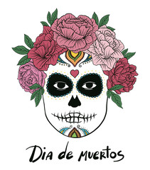 Dia de muertos hand drawn vector art