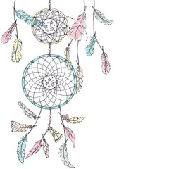 Double Dream catcher in pastel colors