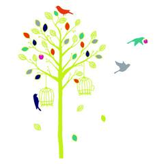 木と鳥 Toy