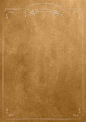 Golden texture blank paper background with retro border